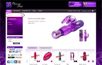 Filecache for faster browsing, product search for customers looking for vibrators and dildos