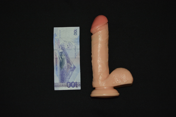 Actual Basic Suction Dildo - for sale