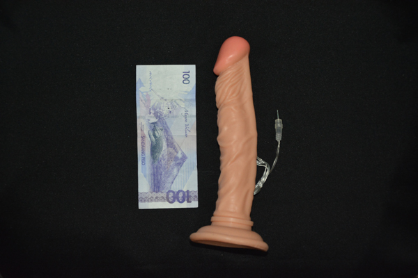 Actual Make It Long Vibrating Dildo - for sale