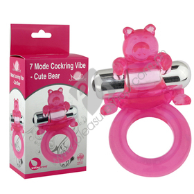 7 Mode Bear Cock Ring for Sale