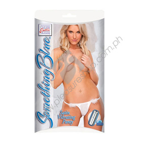 Stretch-to-fit thong Something Blue Satin Vibrating Panty