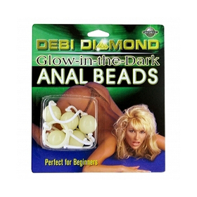 Debi Diamond Anal Beads Glow in the Dark for sale