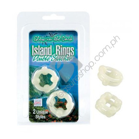 Island Double Stacker Rings Glow in The Dark for sale