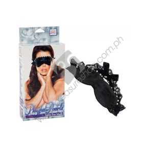Playful In Pearls Satin Eye Mask for sale
