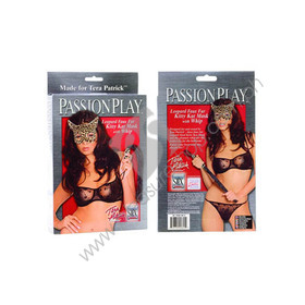 Passion Play Kitty Kat Mask & Whip for sale