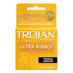 Trojan Ribbed Condom 3PK for sale