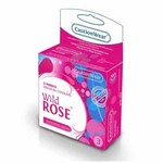 Wild Rose Ribbed Lubricated Condom 3PK for sale